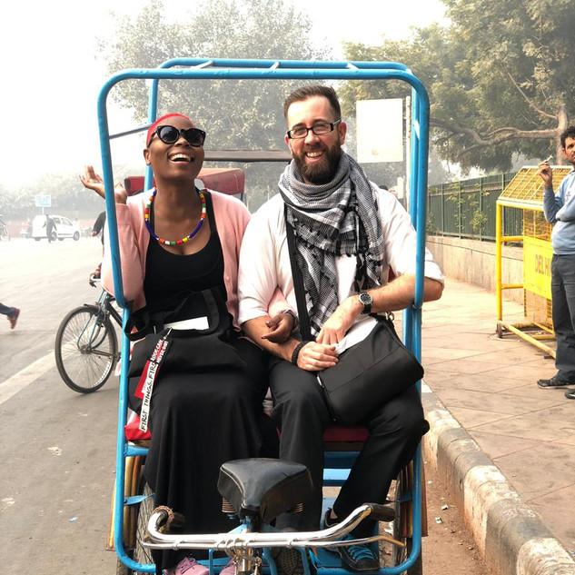 Rickshaw ride in Delhi