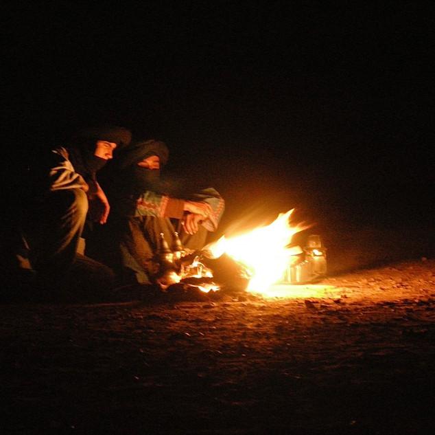 An evening in the Sahara desert