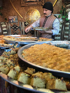 Baklava, seemingly ubiquitous across the Middle East, is always a delicious treat.