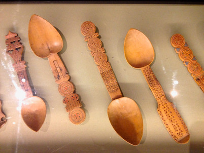 Carved wooden spoons, an old Breton art form