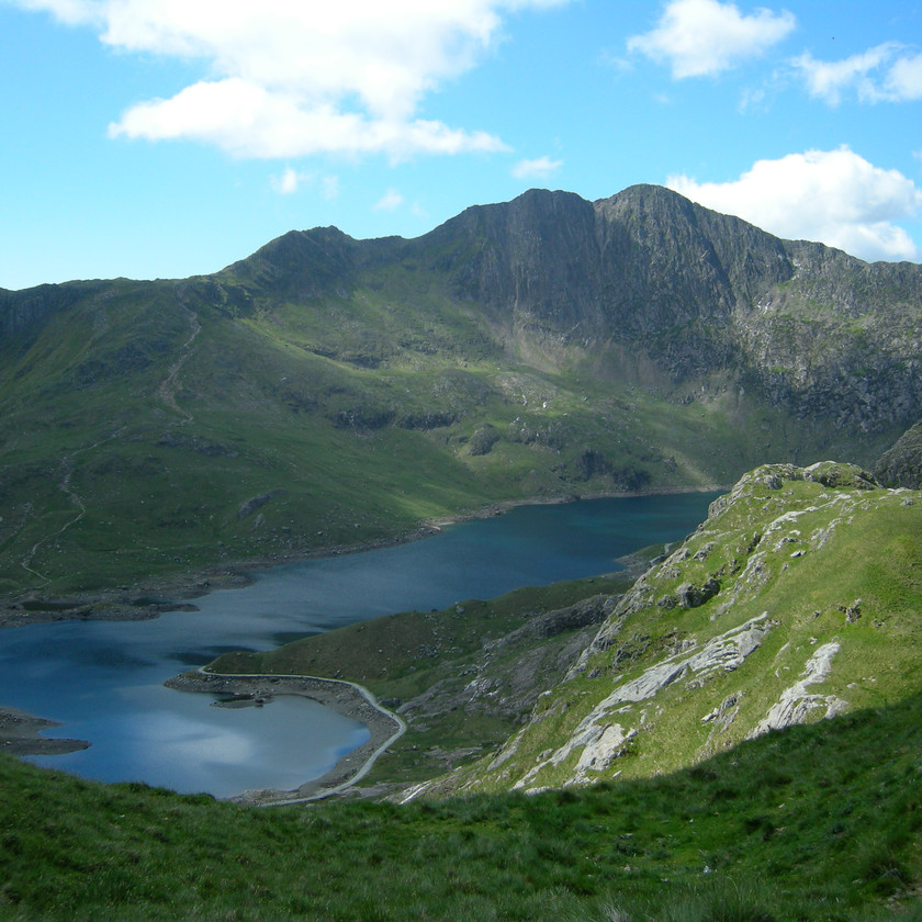 Pristine views along the ridge to Snowdon's summit