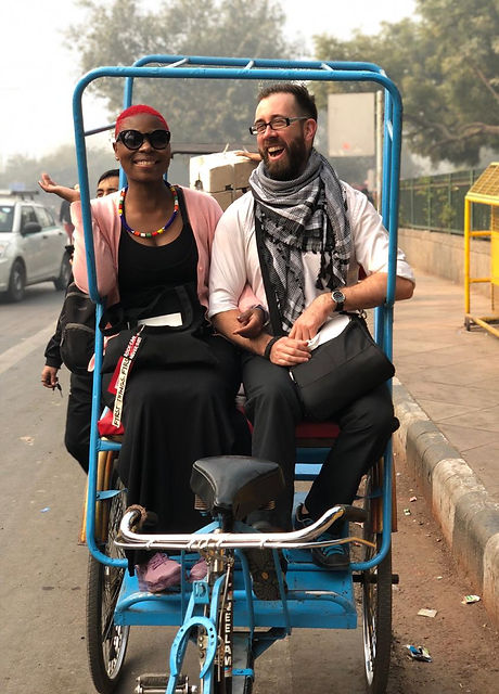 Rickshaw ride in Delhi, India