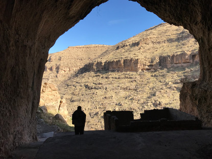 Cliffside caves used for shelter are a common discovery on nature hikes in Kurdistan
