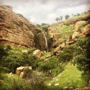 Waterfalls form in springtime across the mountainous region of Iraqi Kurdistan