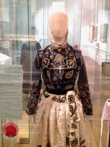 Tradition Breton dress on display in Quimper