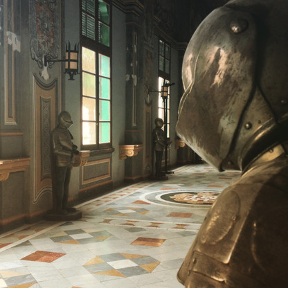Inside the Palace Armory in Valetta