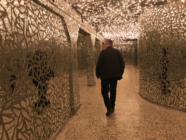 The hall of mirrors in Amna Suraka museum serves as a sobering reminder of the victims of Kurdish genocide under Saddam Hussein's regime