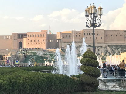 The citadel in Erbil (Hewler) sits atop a tell dominating the skyline