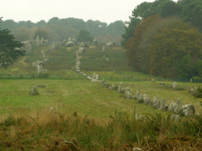 The marching lines of the Carnac stones