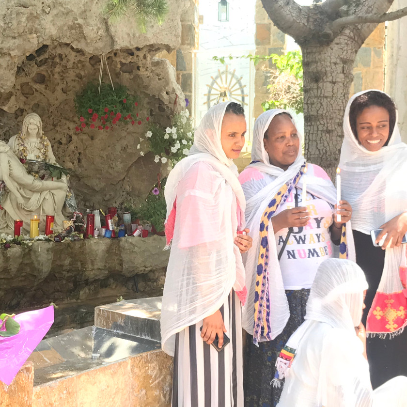 Our Lady of Harissa is a popular pilgrimage site, especially these Ethiopian Christian women.