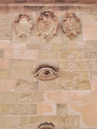 The all-seeing eye, a common symbol in Malta