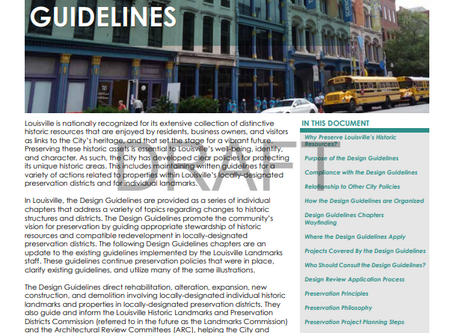 Introduction to the Louisville Landmarks Commission Design Guidelines Draft