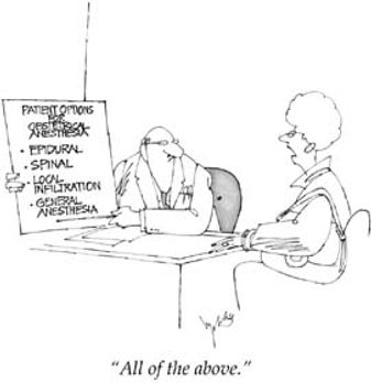 Anaesthetics speciality career cartoon