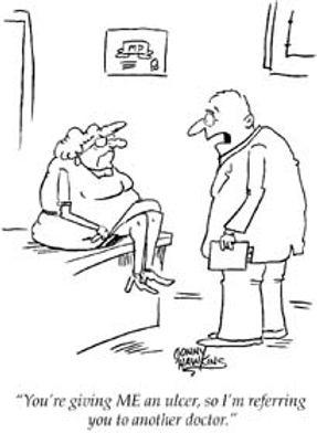 Gastroenterology Medicine Career Speciality Cartoon