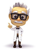 Geriatrics cartoon doctor