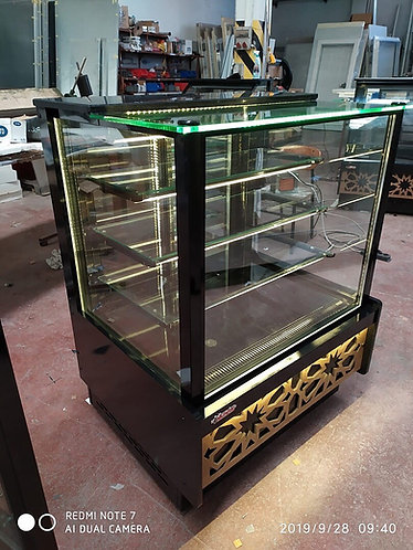 Pastry case 4 ft flat glass new