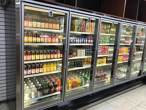 6 doors reaching cooler / freezer  used
