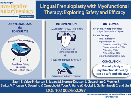 Lingual frenuloplasty with myofunctional therapy...