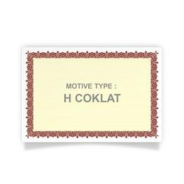 PIAGAM A4 H.COKLAT