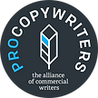 Membership mark for ProCopywriters, the alliance of commercial writers