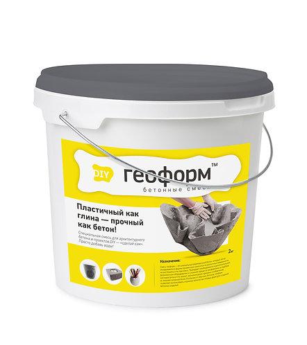 Сухая бетонная смесь ГЕОФОРМ АРТ 5 кг (серый)