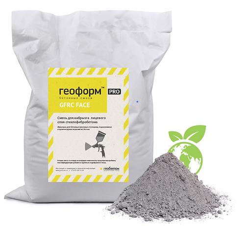 Сухая бетонная смесь ГЕОФОРМ GFRC (face coat) мешок 25 кг. (серый)