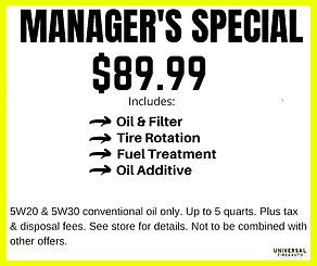 Oil Change Coupon 89.99 includes oil filter, tire rotation, fuel treatment, and oil additve - Longwood Florida