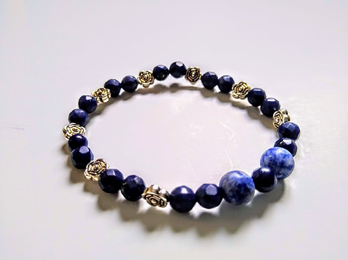 Lapis Lazuli and Blue Sodalite Bracelet