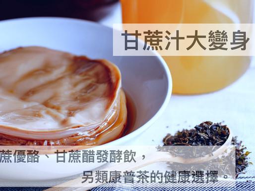 甘蔗汁大變身!甘蔗優酪、甘蔗醋發酵飲,另類康普茶的健康選擇。