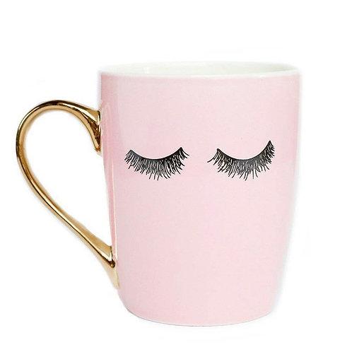 Pink Eyelash Mug