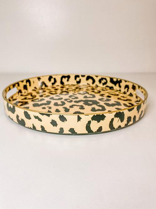 Leopard Round Tray
