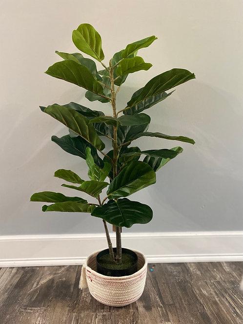 Faux Fiddle Fig Leaf Plant