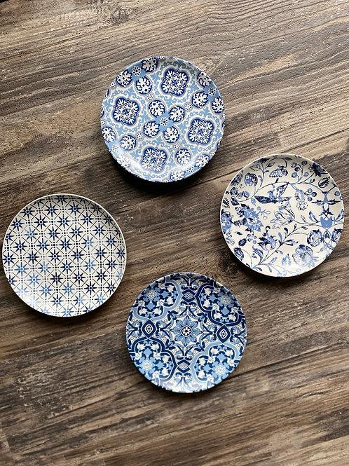 Porto Blue Porcelain Appetizer Set