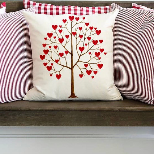 Heart Tree Pillow Cover