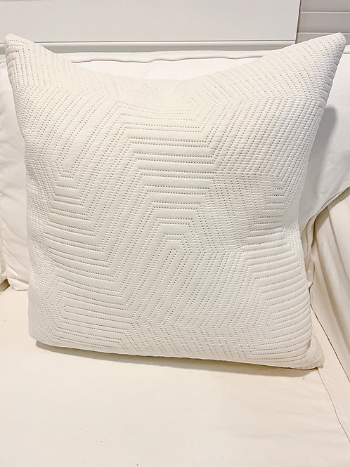 Cream Quilt Pillow