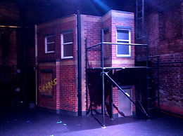 Maria's fire escape in West side story