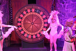 The Camelot roulette wheel for Spamalot set hire