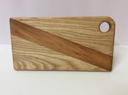 Ash & Iroko inlaid chopping boardping board