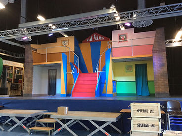 Main stage for Bugsy Malone set hire