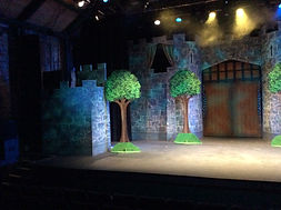 Stage left tower for Spamalot set hire