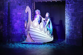 The Lady of the Lake's boat for Spamalot set Hire