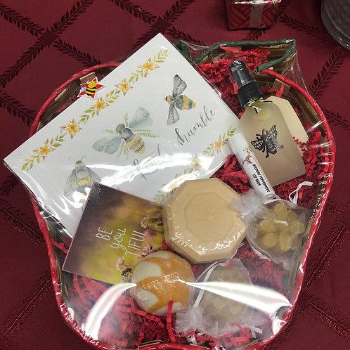 Apple Shaped Holiday Gift Basket