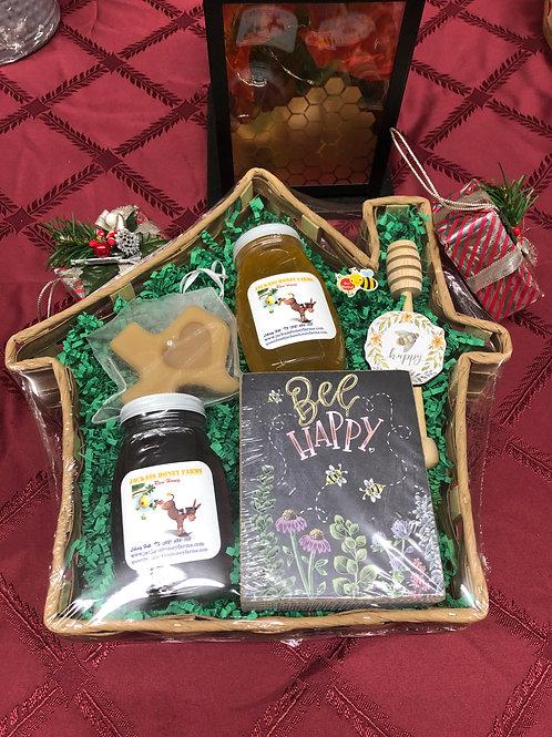 House Shaped Gift Basket