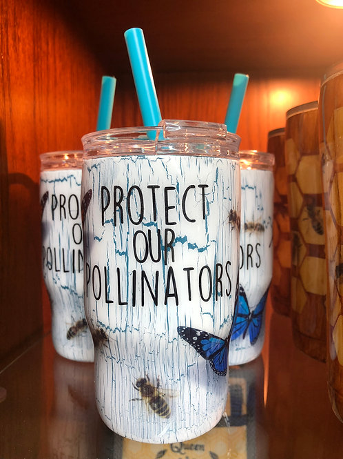 14 oz Protect Our Pollinators Tumbler with Straw