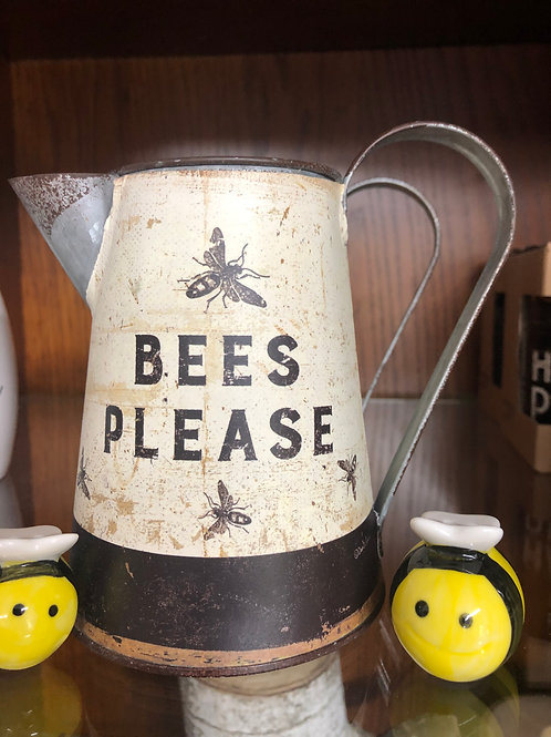 Bees Please Rustic Pitcher