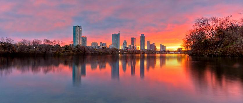 Austin Skyline December sunrise