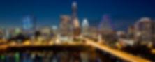 Austin Skyline at night from the  Hyatt