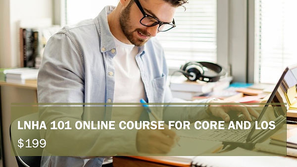 LNHA 101 online course for Core and los.