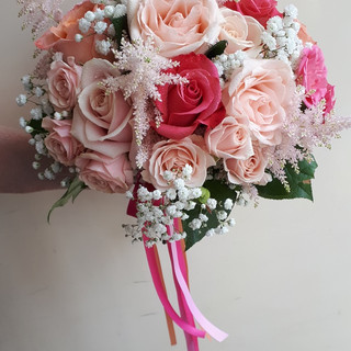Pretty in Pink Bride's Bouquet