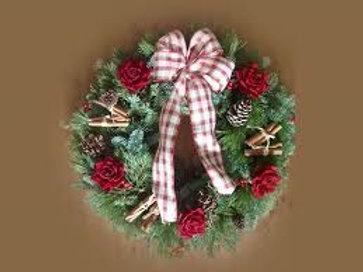 LUXURY TARTAN CHRISTMAS WREATH
